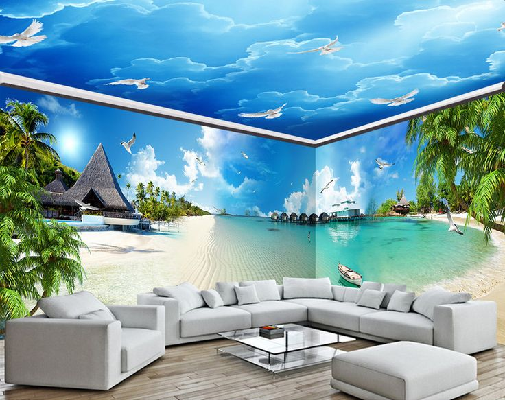 8 best d coration murale grande panoramique papier peint photo tapisserie paysage poster g ant. Black Bedroom Furniture Sets. Home Design Ideas