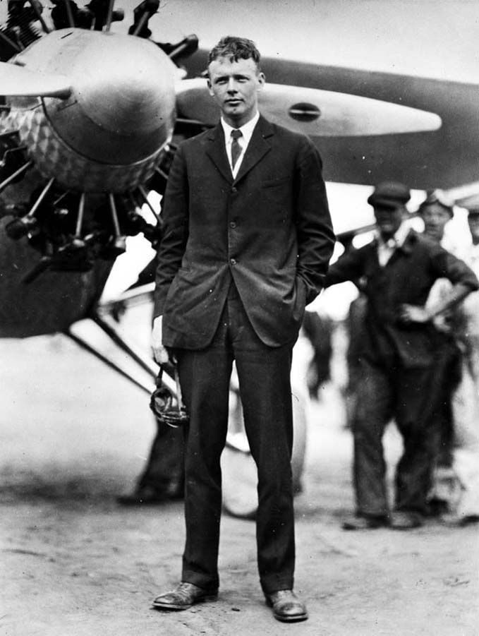 """ Charles Lindbergh, Long Island, 1927 """