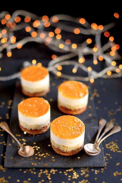 """Entremets pomme poire, caramel et pain d'épices La """"Pose"""" Gourmande: Dessert de fêtes"""