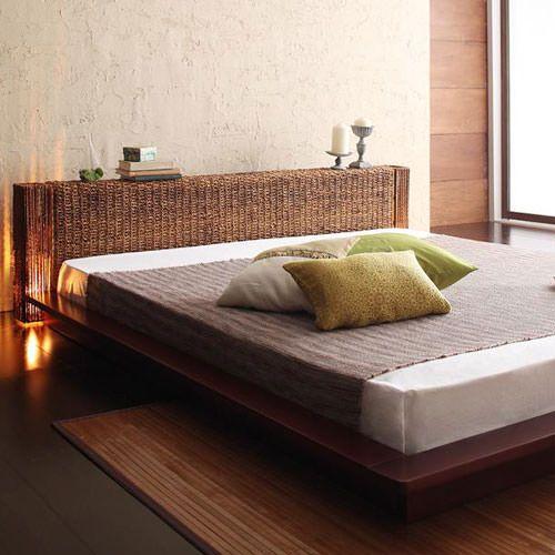クイーンベッドの一覧 | フェリシアベッド 極上の癒し空間に 照明付ステージタイプアバカベッド (クイーン)