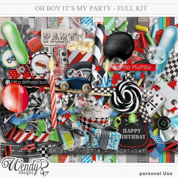 Personal Use :: Kits :: Oh boy... It's my Party! - Full kit