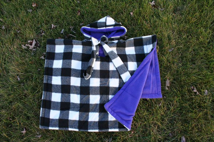 Car Seat Poncho - Car Seat Coat - Car Seat Blanket - Car Seat Cover - Car Seat Fleece Jacket - Kids Gift - Girls Plaid Purple Buffalo Boys by boobercakes on Etsy