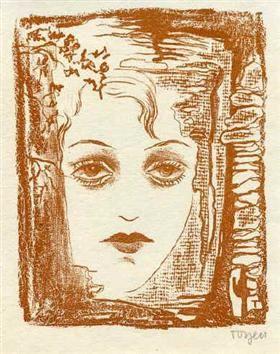 A Girl with Almond Eyes - Toyen