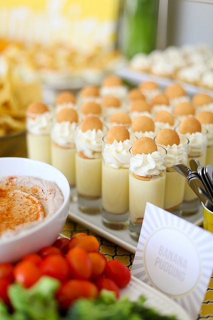 banana wafer dessert - great idea! want to do this but want to do it with plastic cups from party city                                                                                                                                                                                 More
