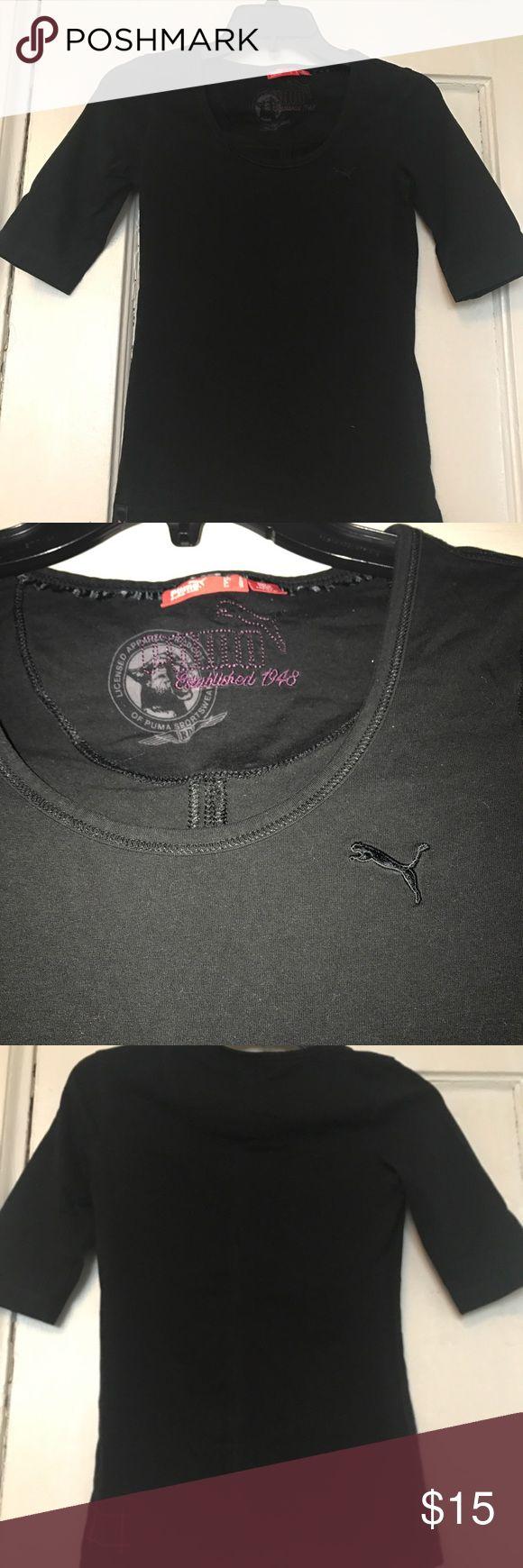 Puma Shirt Like new black puma shirt Puma Tops
