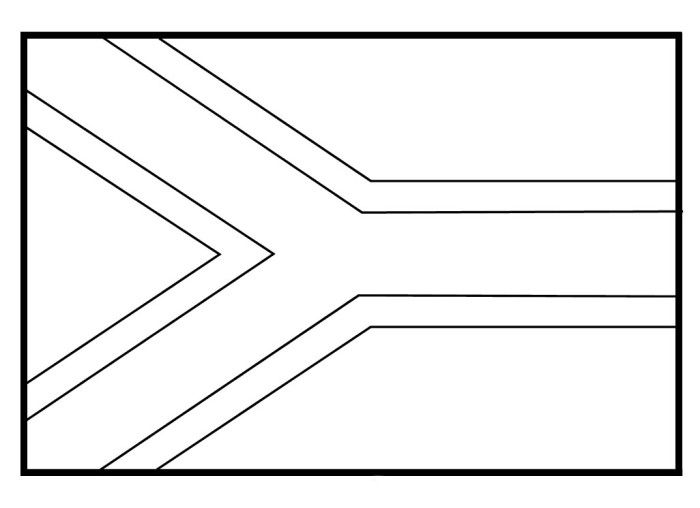 flag coloring pages africa - photo#18
