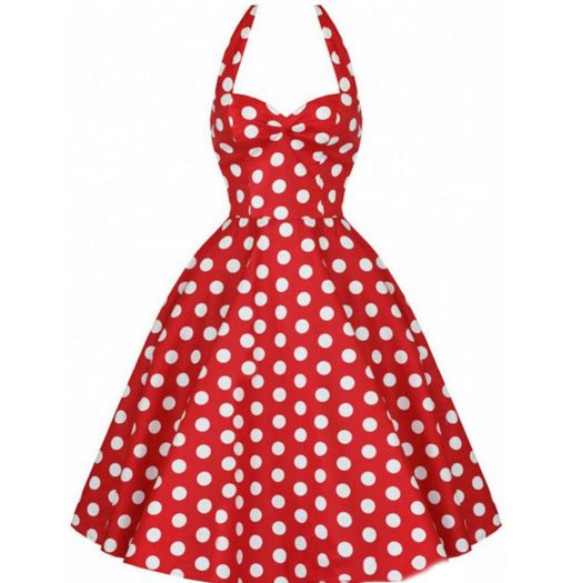 Red & White Polkadots Made-to-Order Retro 50s Pinup Girl Rockabilly Style Dress by After The Rain
