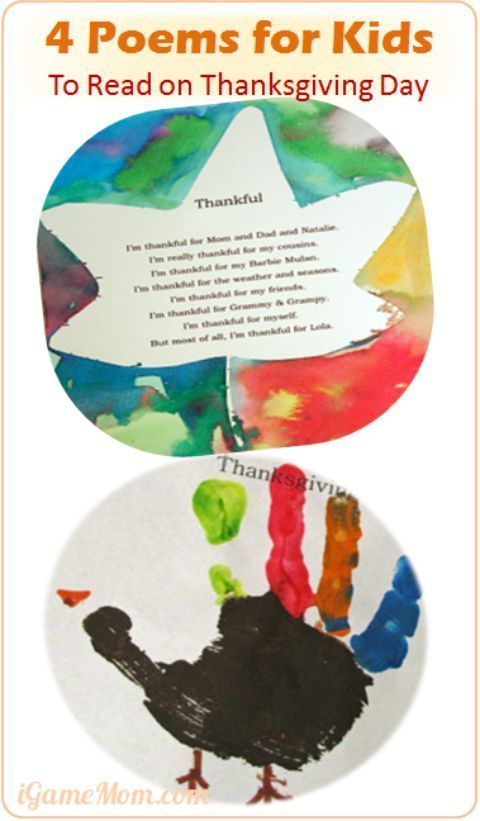 4 Poems for Kids to Read and Write on Thanksgiving Day ...