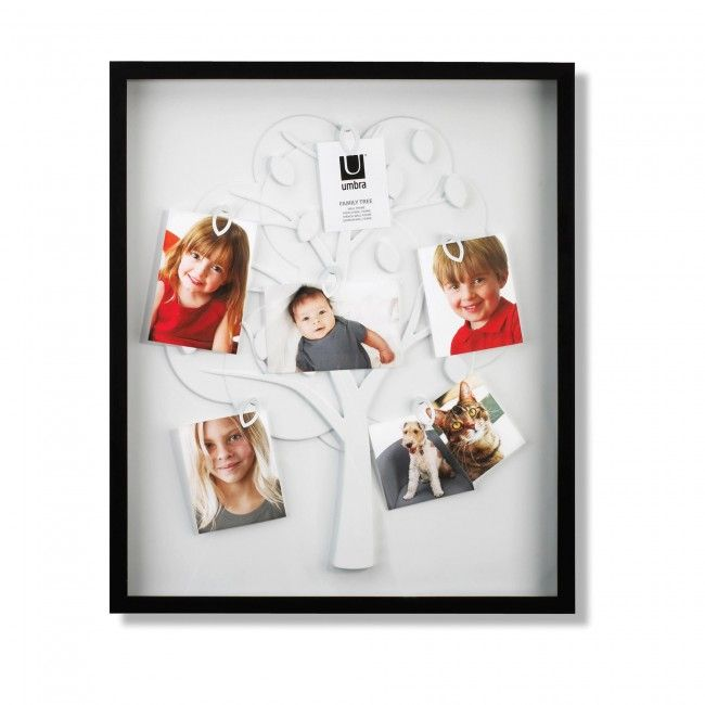 Keep your family close with the Family Tree Collage Frame. Don't worry about the photos being mismatched sizes, just clip them to the tree however you like.