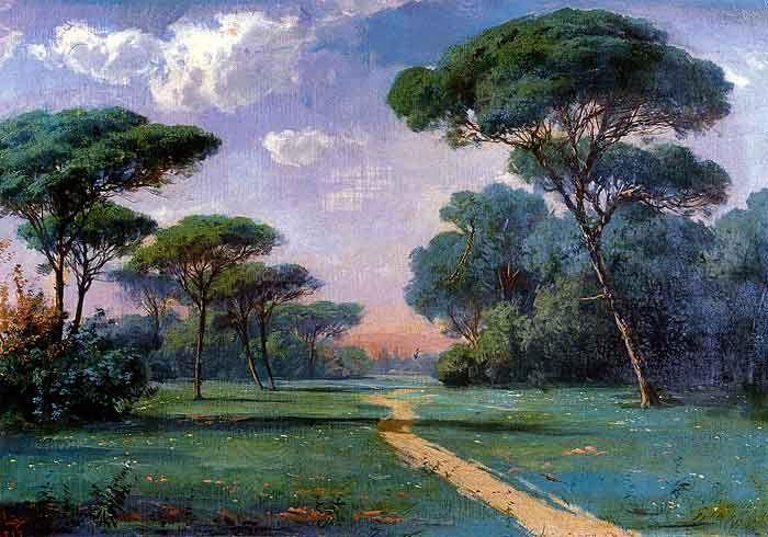 Hoca Ali Riza - Manzara (Landscape), 1898