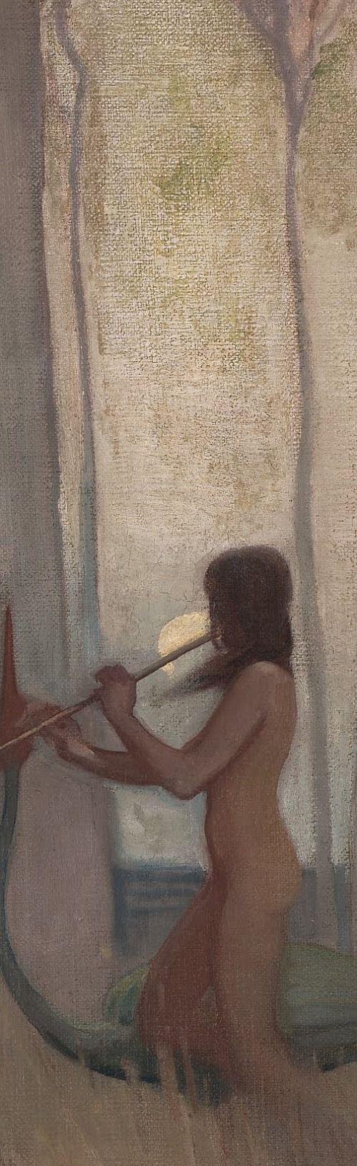 The Spirit of the Plain (Detail) by Sydney Long (Australian Artist)