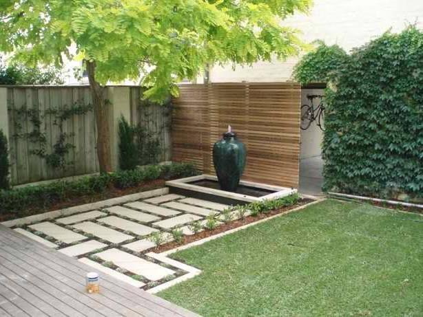 kostengnstige hintergartenideen einfache landschaftsbau ideen einfache terrasse ideen garten landschaftsbau outdoor ideen hinterhfe grn - Landschaftsgestaltungsideen Fr Kleine Hinterhfe