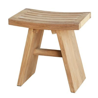 ASTA Home Furnishing Spa Teak Wooden Free Standing Shower Stool