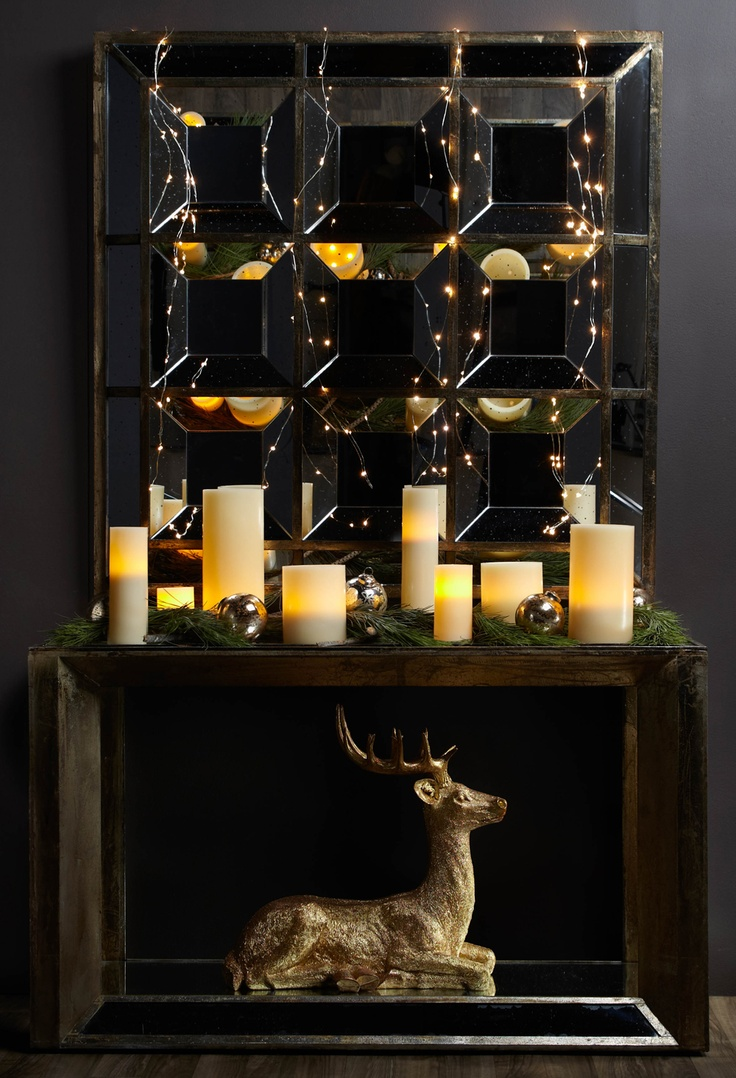 Decorate Console Table For Christmas Holiday
