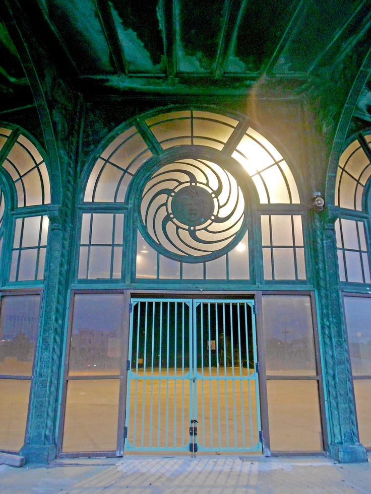 Abandoned carousel house in Asbury Park New