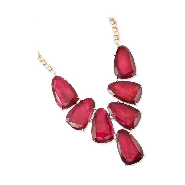 Harlow Gold Statement Necklace in Burgundy | Kendra Scott Jewelry (710 BRL) ❤ liked on Polyvore featuring jewelry, necklaces, yellow gold jewelry, holiday jewelry, burgundy statement necklace, gold statement necklace and special occasion jewelry