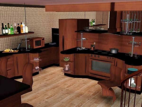 61 best sims home kitchen images on pinterest kitchens for Sims 3 kitchen designs