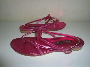 sandali-studio-pollini-donna-38-pelle-viola-rosa-sandals-firmati
