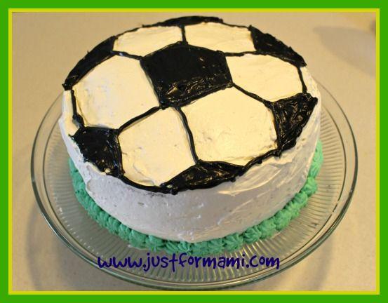 pastel de pelota de futbol #Muncial2014 #balon #pelota #futbol #pasteles #postres #soccer #recetas