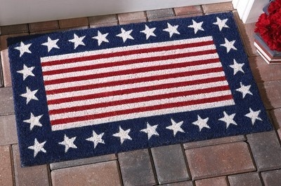 Stars And Stripes Patriotic Front Door Mat 4th Of July Decor