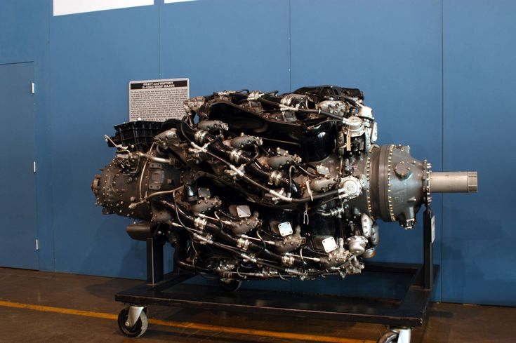 """1944 28-cylinder Pratt & Whitney R-4360 Wasp Major. Used in the B-50 Superfortress and Hughes H-4 Hercules ('Spruce Goose"""")."""