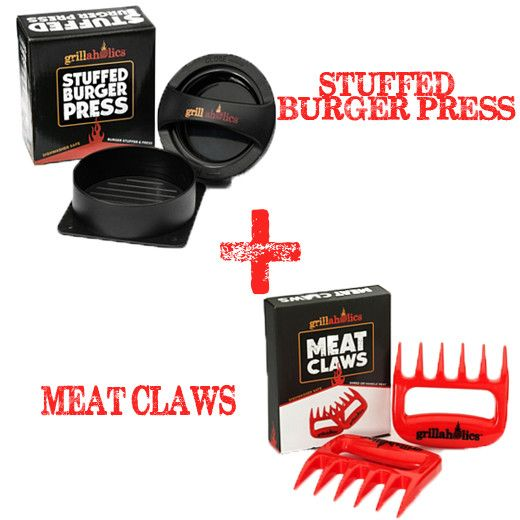 Stuffed Burger Press and Meat Claws Bundle