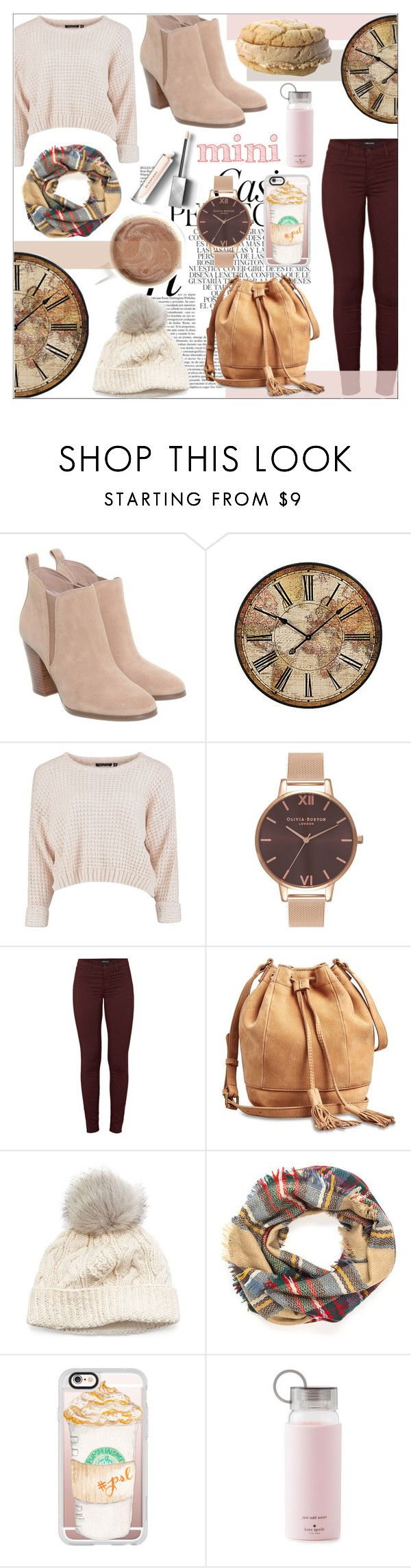 """""""coffee at coffee shop"""" by enjoyrosa ❤ liked on Polyvore featuring Whiteley, Michael Kors, WALL, Olivia Burton, J Brand, Lucky Brand, SIJJL, Casetify, Kate Spade and Burberry"""