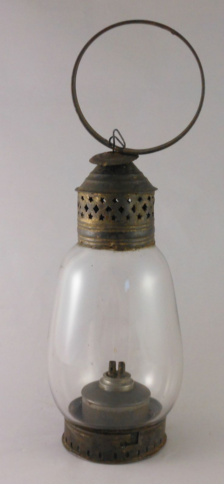 Great 18th or Early 19th Century Tin Glass Whale Oil Lantern Lamp | eBay