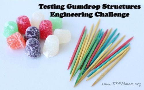 This is a great engineering challenge idea for all ages. Build gumdrop…