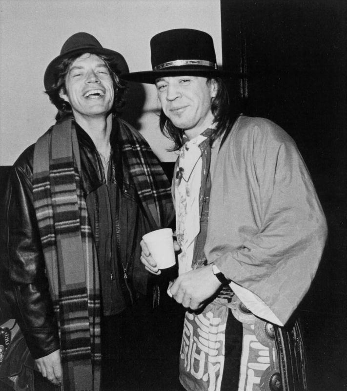 Mick Jagger and Stevie Ray Vaughan