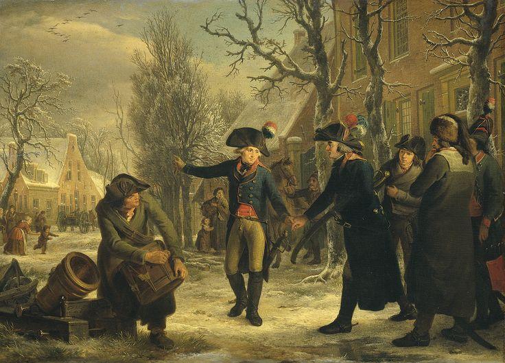 Brigade Generaal Daendels neemt afscheid van Krayenhoff - 18 januari 1795