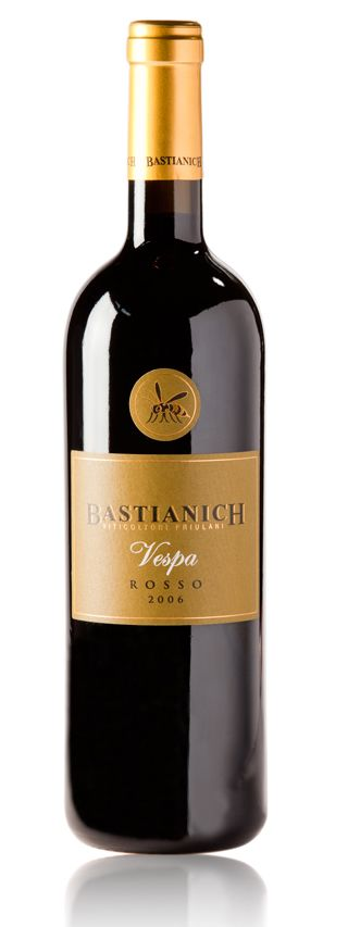 Bastianich Vespa Rosso. With a little wasp on it, of course.