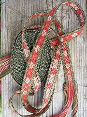 Apron strap with roses 2, August 2010 (yarn jungle) Tags: bunad 2010 bnd forklebnd bndvev