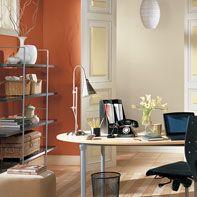 Office Paint Colors best 25+ orange home office paint ideas on pinterest   paint ideas