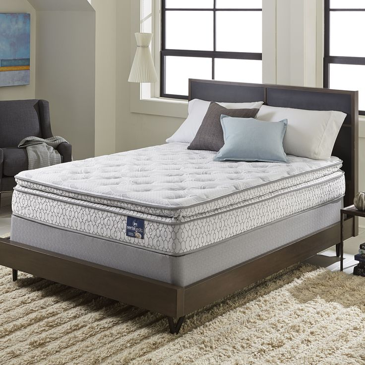 Serta Extravagant Pillowtop California King-size Mattress Set