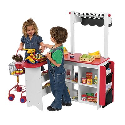 Let S Play Store Kids Pretend Store Toy Grocery Stand