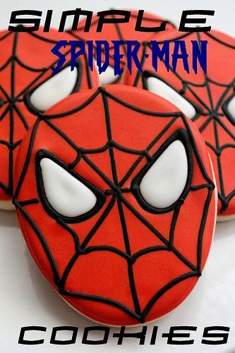 Easy Spiderman Cookies tutorial