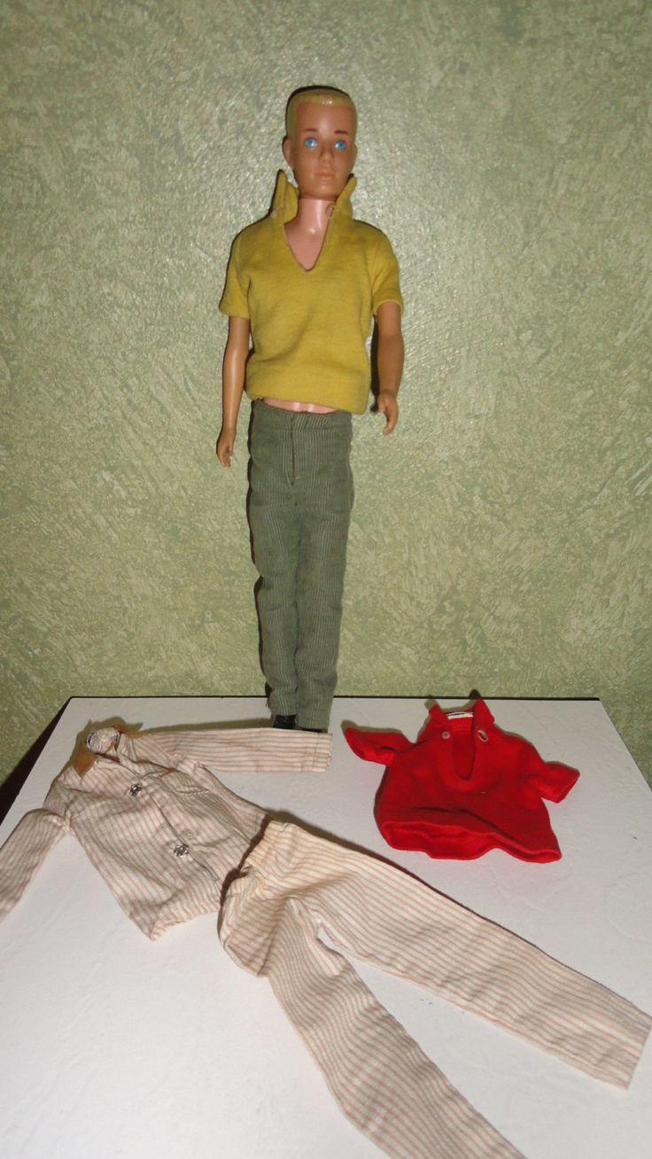 "Mid Century 1960 Shortie Ken Molded Blonde Hair Blue Eyed Mattel Inc. Hawthorne California U.S.A. 11-1/2"" Barbie Doll Toy by TimsSecretTreasures on Etsy"