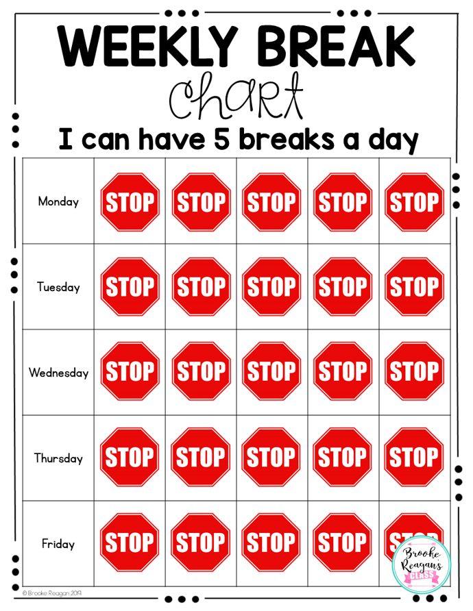 Student Break Charts