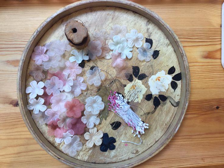 Silk flower making.