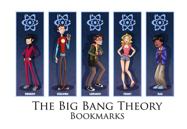 Japan Expo - The Big Bang Theory Bookmarks by coda-leia.deviantart.com on @DeviantArt