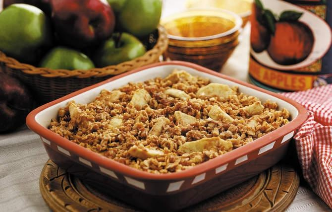Oaty Apple Crisp - Helping Grandma select Rome Beauty or Jonathan apples for the crisp was as special as the dessert.