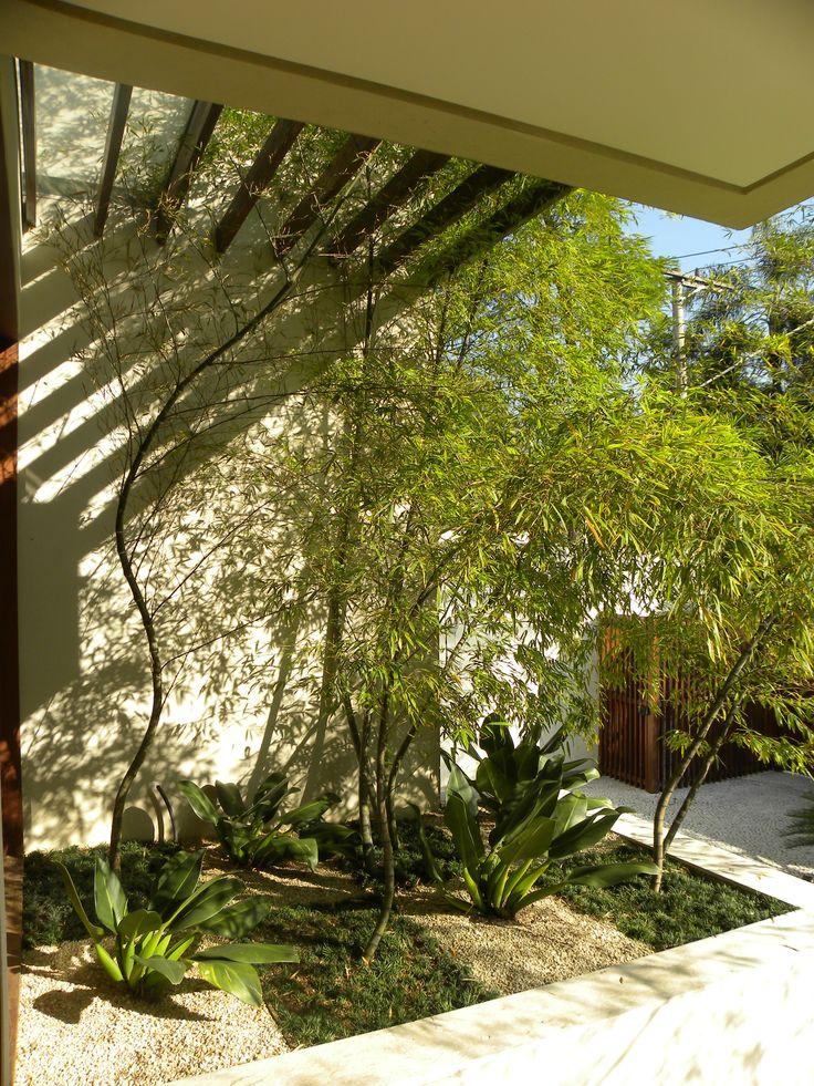 Jardim comporto por bamb moss pavoc grama preta e pedrisco resid ncias na cidade - Jardin de bambu talavera ...