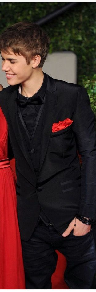 I'd love my prom date to look as hot as Justin in this silly black ...