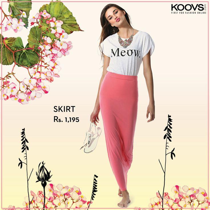 KOOVS Jersey Tubular Maxi Skirt