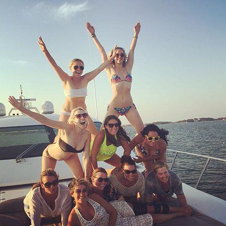 Jennifer Lawrence Tops Human Pyramid in Tiny Bikini: Photo - Us Weekly