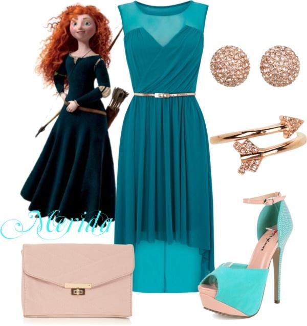 """Merida Disney Princess Prom Outfit"" by natihasi on Polyvore"
