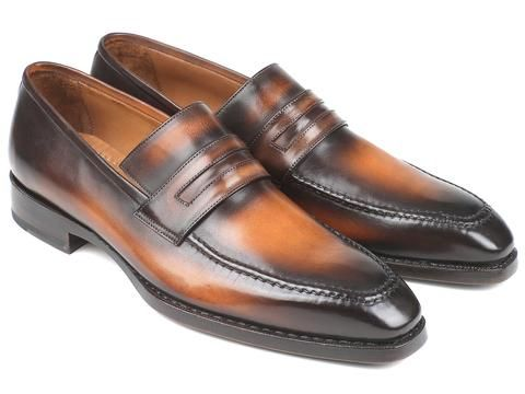 Paul Parkman Brown Burnished Goodyear Welted Loafers – Styles By Kutty