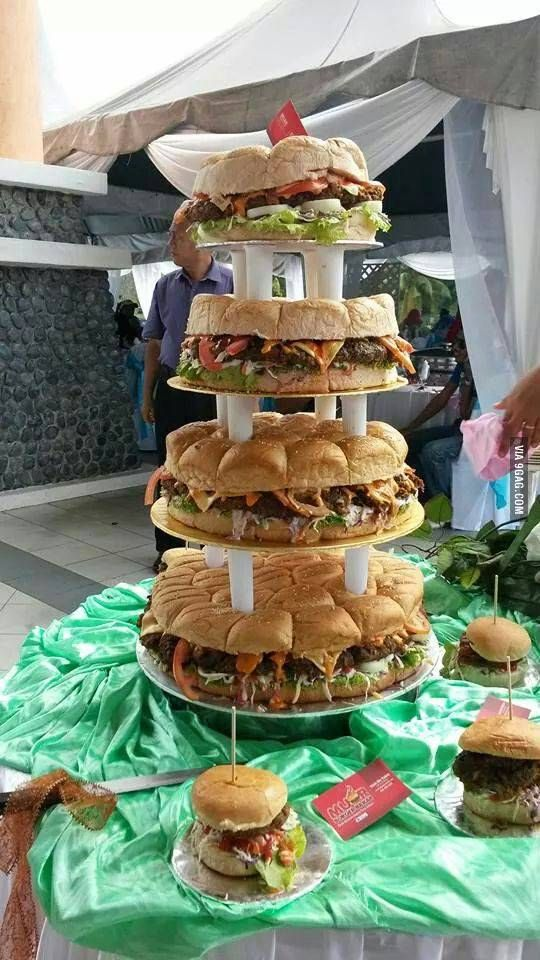 So this is my friend's wedding cake