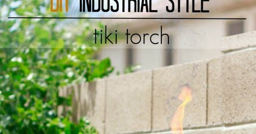 Learn how to make a DIY Industrial Style tiki torch with a few supplies from the hardware store.